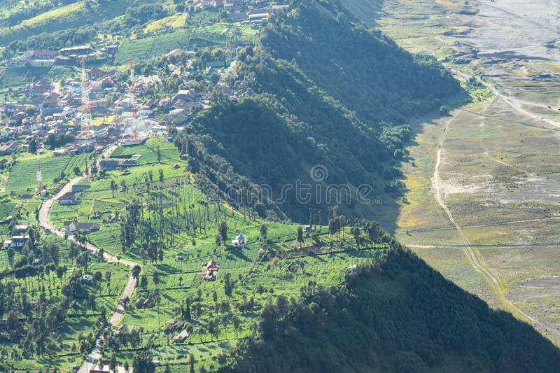 Mount Bromo Tengger Semeru located in Malang Lumajang Pasuruan Probolinggo East Java Indonesia. This is Mount Bromo Tengger Semeru located in Malang Lumajang stock images