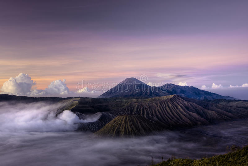 Mount Bromo Volcano. At sunrise, Indonesia, Java stock images