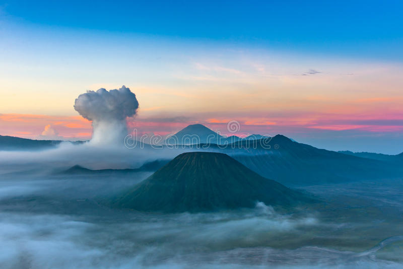 Mount Bromo volcano & x28;Gunung Bromo& x29; in Bromo Tengger Semeru Natio. Nal Park, East Java, Indonesia stock photography