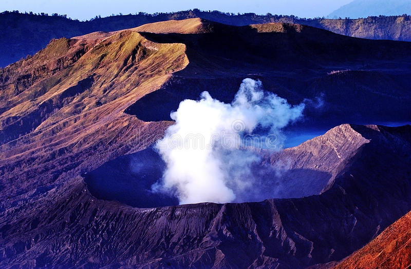 Mount Bromo. Volcanoes taken in Tengger Caldera, East Java, Indonesia royalty free stock photography