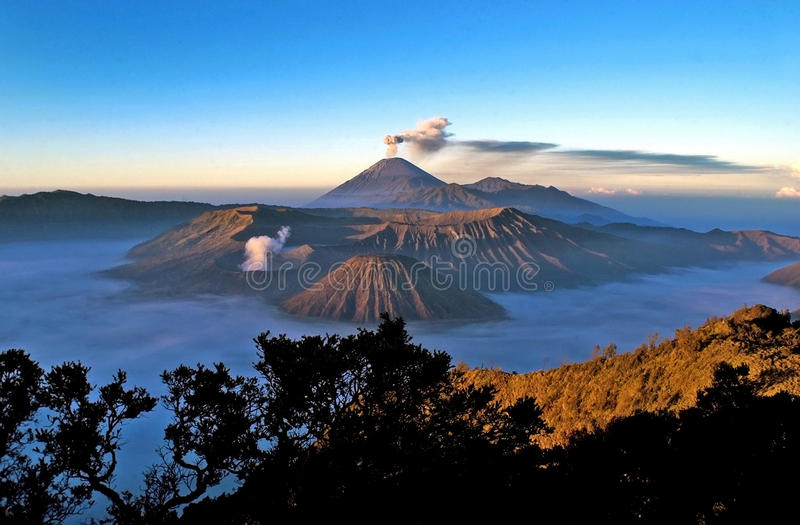 Mount Bromo. Volcanoes taken in Tengger Caldera, East Java, Indonesia stock photos