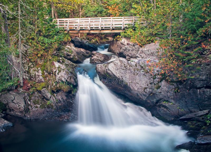 Mount Carleton Provincial Park Waterfalls. A small but stunning waterfall on Williams Brook in Mount Carleton Provincial Park in the Canadian province of New royalty free stock photos