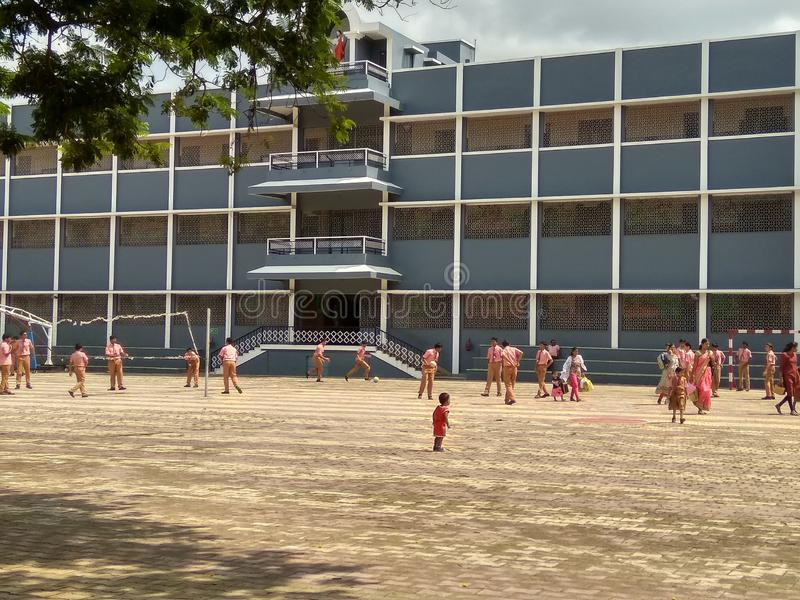 Mount Carmel School campus in India at chandrapur. School at dst.chandrapur in . school at dst.ceducaschool teaching performance is very good as compared to stock photo