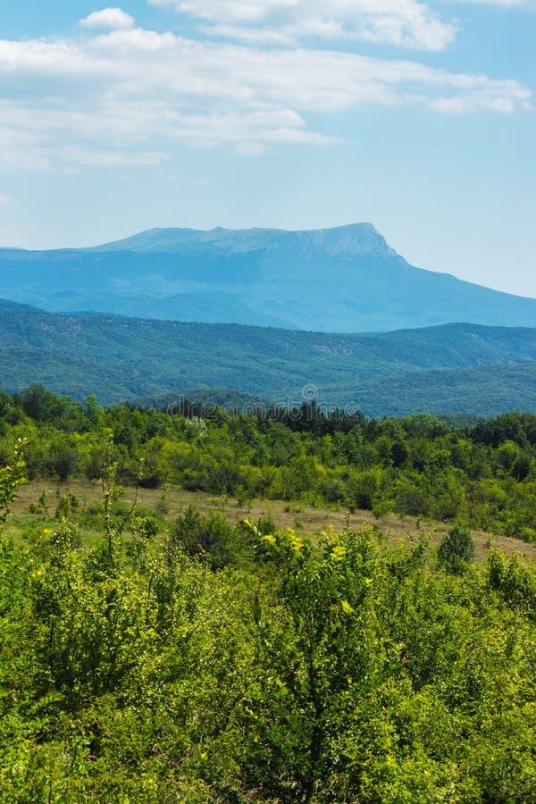 Mount Chatyr-dag on a sunny summer day. Crimea royalty free stock photos