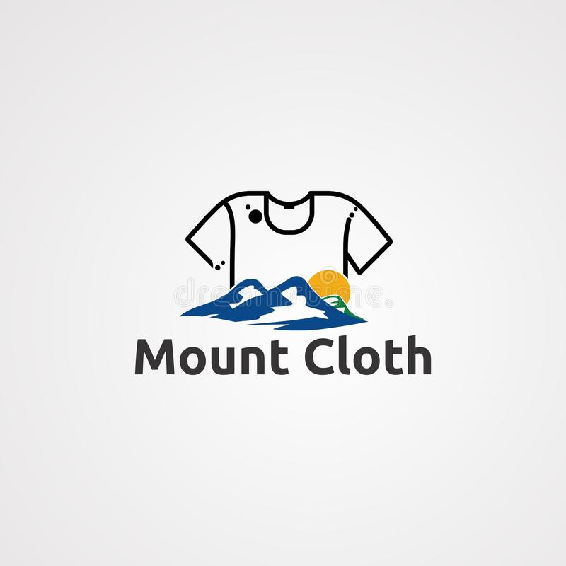 Mount cloth logo vector,icon, element, and template for company royalty free illustration