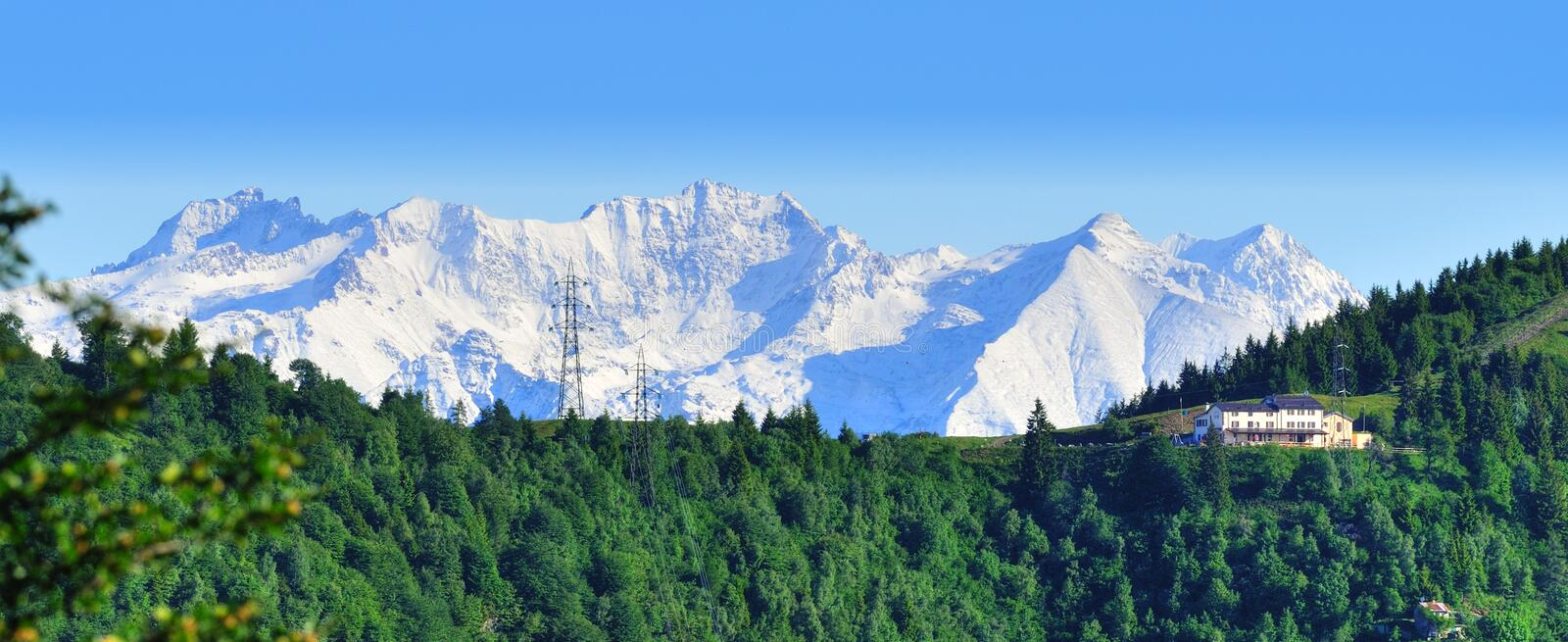 Mount Concarena seen from Guglielmo slopes royalty free stock images