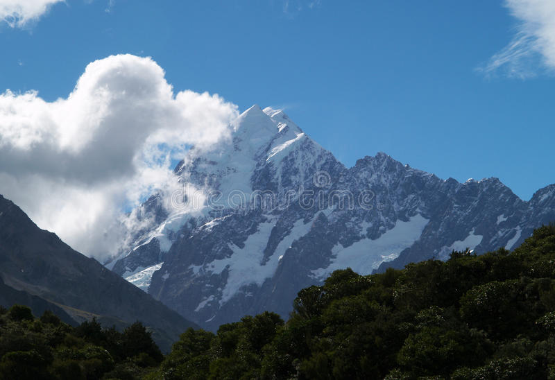 Download Mount Cook stock image. Image of blue, rock, range, cloud - 23923143