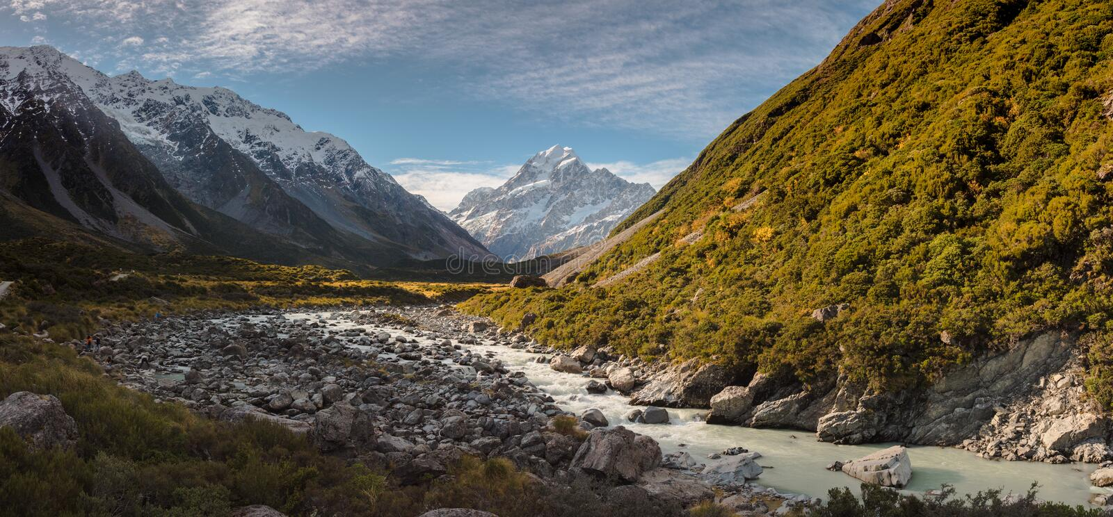 Mount. Cook in daytime royalty free stock image