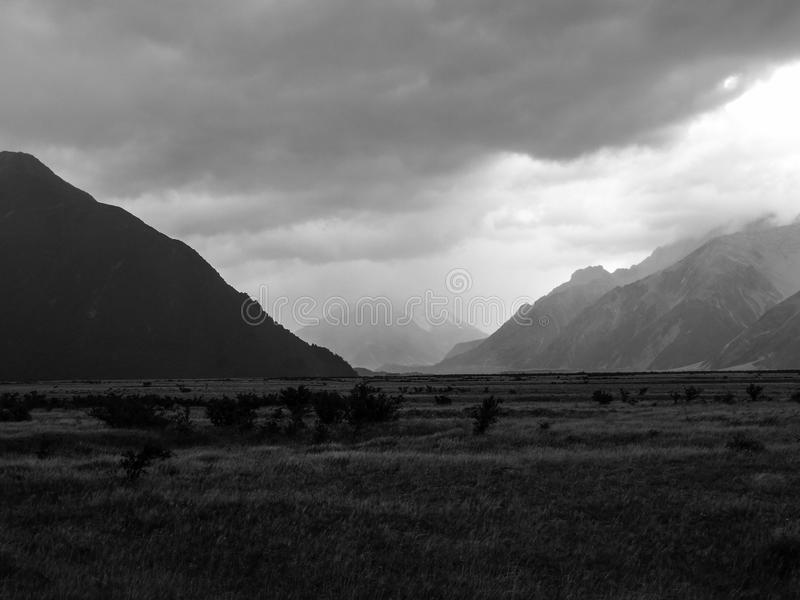 Mount Cook National Park is a real gem stock images