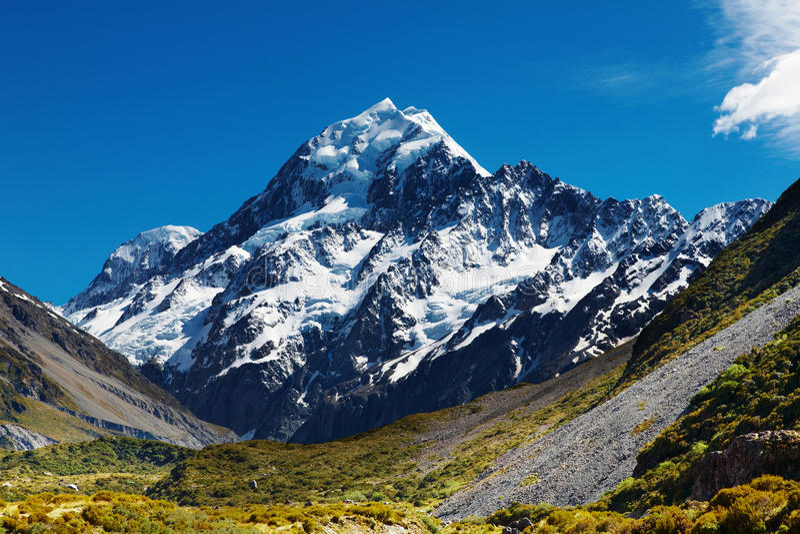 Download Mount Cook, New Zealand stock image. Image of blue, landscape - 11715443