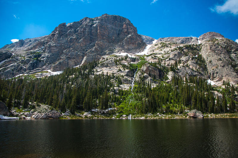 Mount Copeland and Pear Lake stock photo