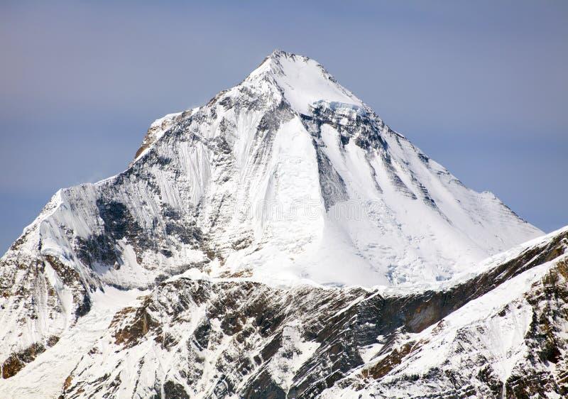 Mount Dhaulagiri from Thorung La pass, Nepal. View of mount Dhaulagiri from Thorung La pass, Nepal royalty free stock photo