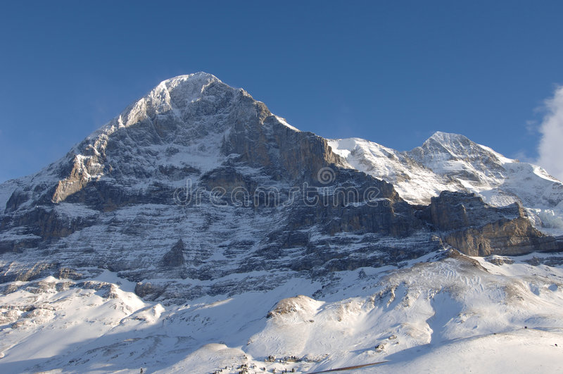 Mount Eiger. Eiger North Face, Alps, Switzerland stock images