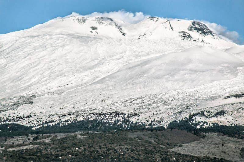 Mount Etna (вулкан) стоковое изображение