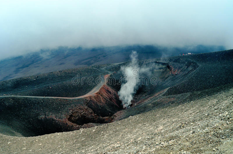 Mount Etna stock photo