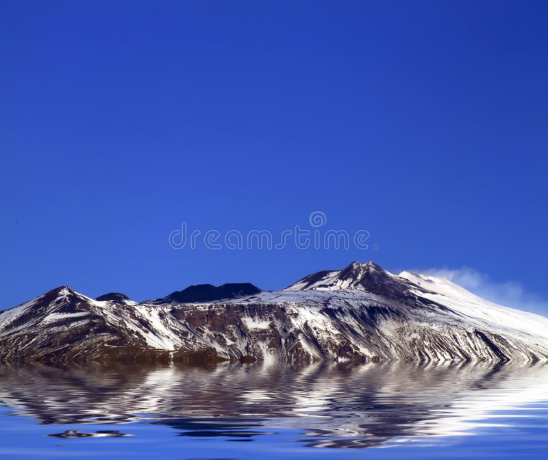 Mount Etna royalty free stock image
