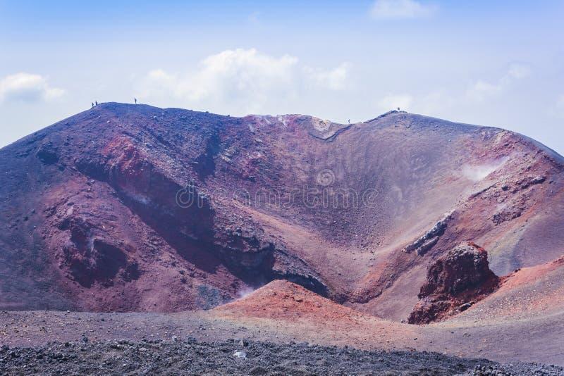 Mount Etna aktiv vulkan på ostkusten av Sicilien, Italien arkivbild