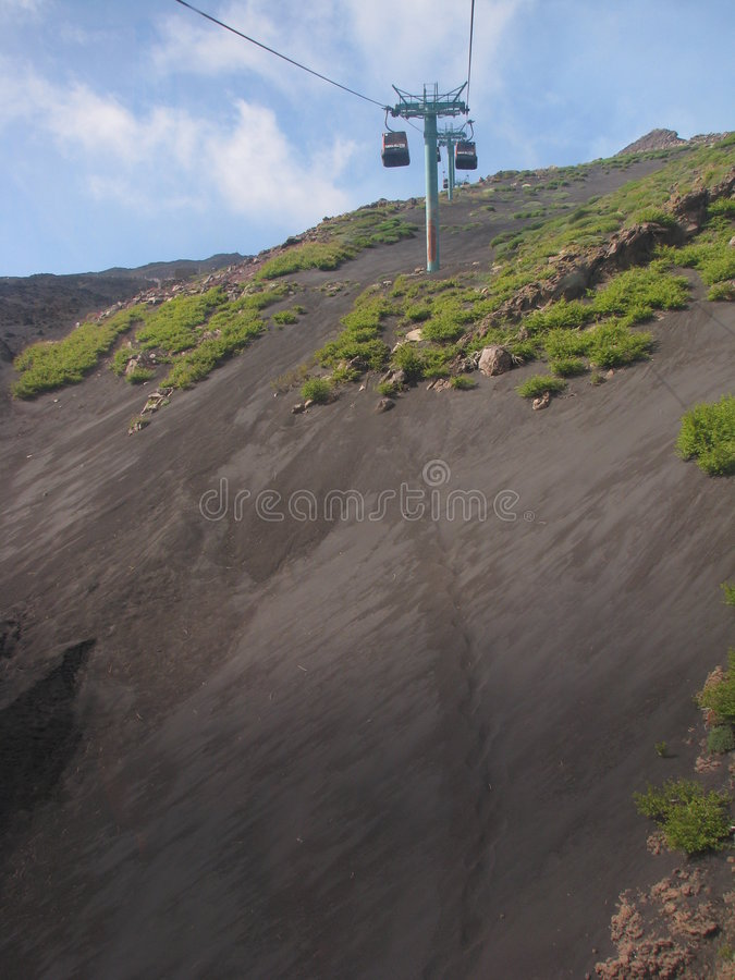 Mount Etna Cable Car Stock Image Image Of Sicily Volcano 5620759