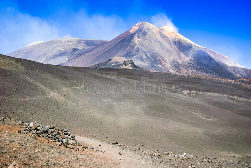Mount Etna Sicily italy stock image
