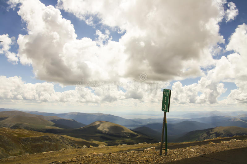 Mount Evans. Is the road into the sky. Drive from 8,700 feet at Idaho Spring where you turn off Interstate 70 to 14,240 feet to the summit, and you will pass stock images