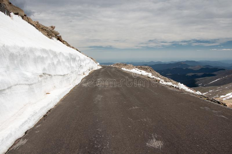 Mount Evans Scenic Byway royalty-vrije stock afbeelding