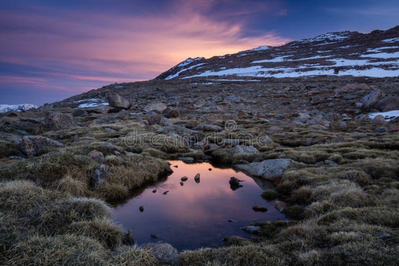 Mount Evans Sunrise stock photo