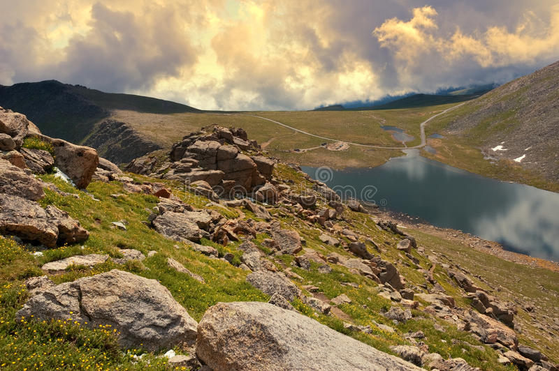 Mount Evans Tundra royalty free stock images