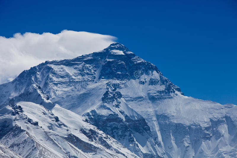 Mount Everest stockfotos