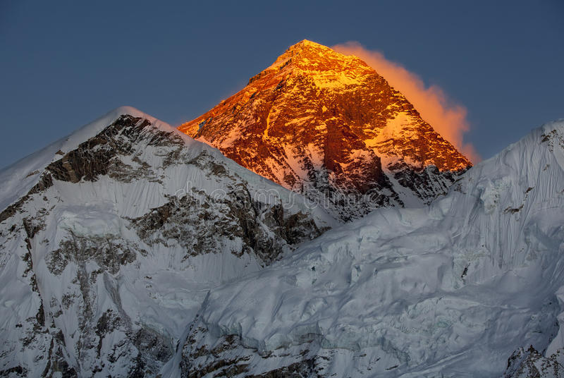 Mount Everest stockbild