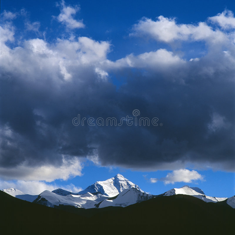 The Mount of Everest royalty free stock photography