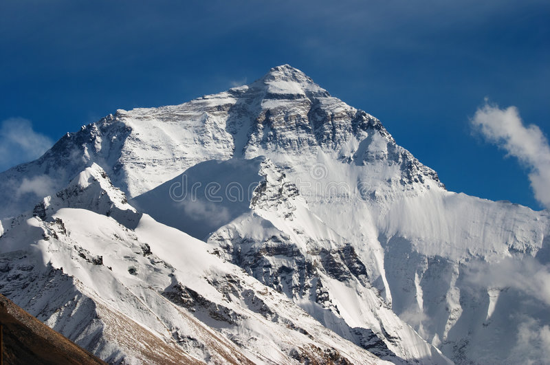 Mount Everest, North face royalty free stock photo