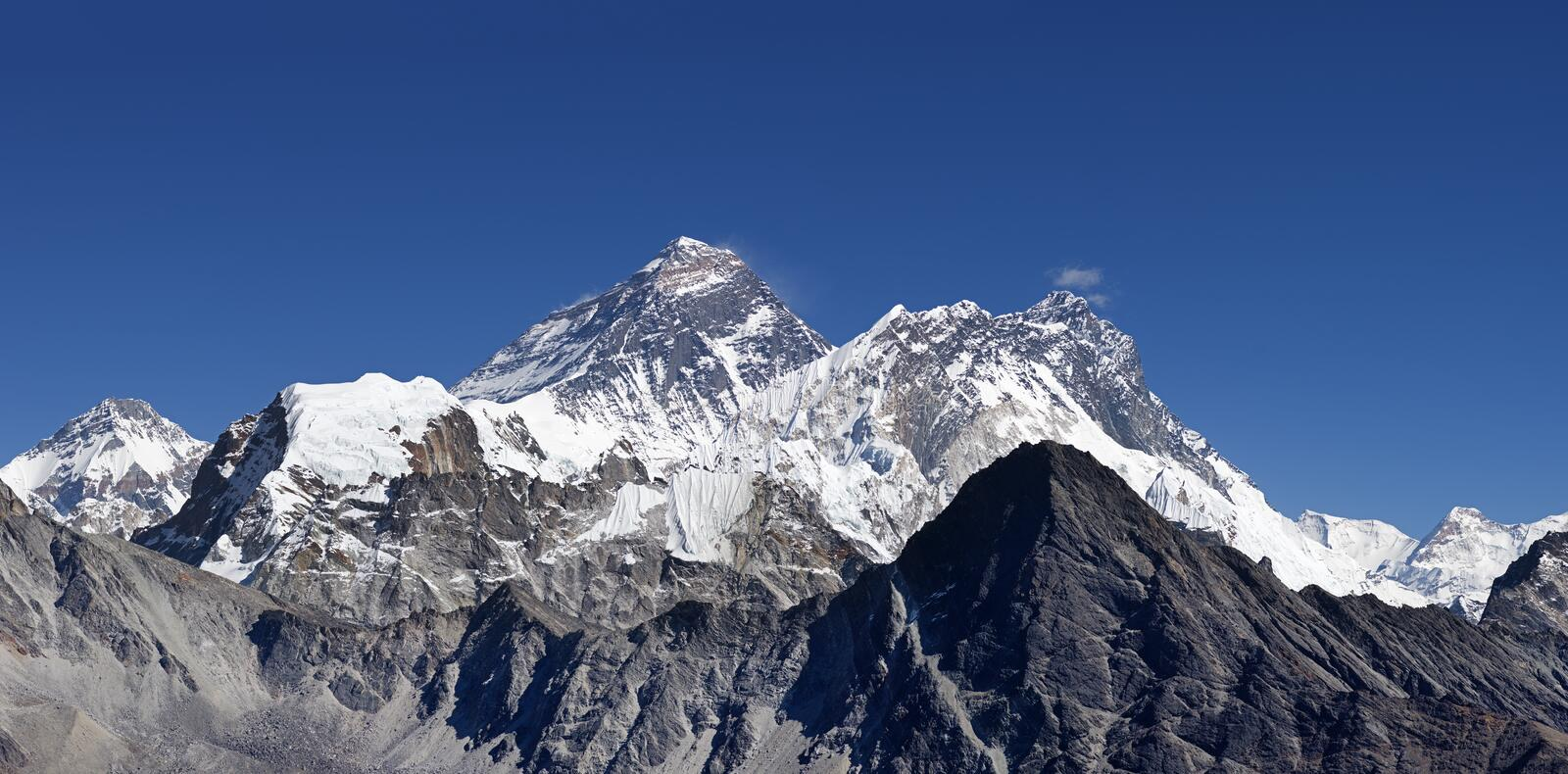 Mount Everest royalty free stock photos