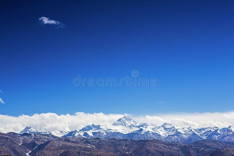 Mount- Everest und Baumwollflanelltempel stockfotos