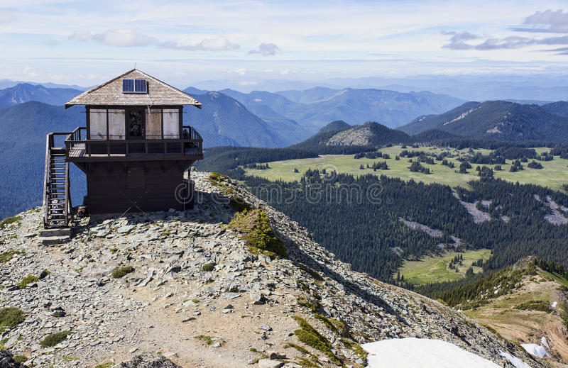 Mount Fremont fire lookout station royalty free stock image