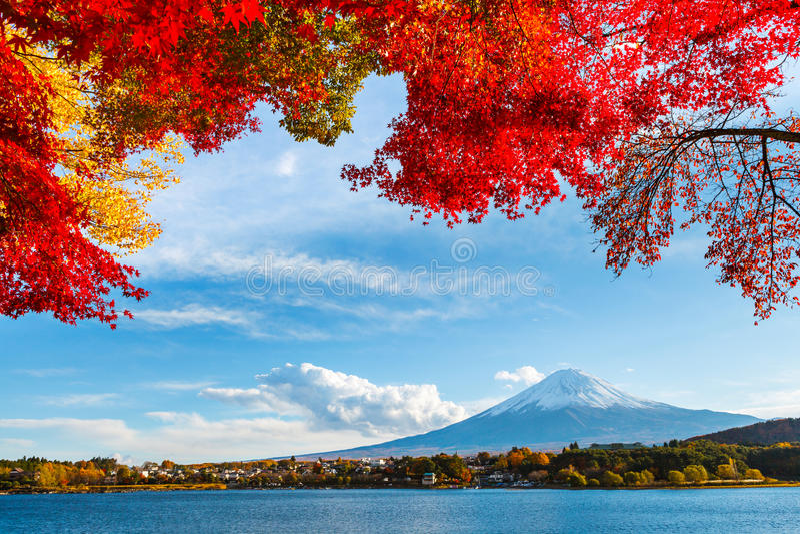 Download Mount Fuji в осени стоковое фото. изображение насчитывающей озеро - 33737740