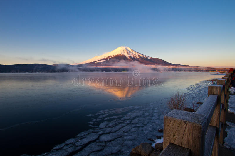 Download Mount Fuji stock image. Image of water, symmetry, yamanashi - 24709135