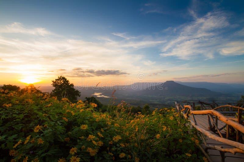Mount Fuji in de provincie Loei, Thailand Dit is dat Mountain lijkt op de berg Fuji in Japan royalty-vrije stock fotografie