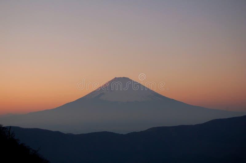 Mount Fuji at Dusk stock photo