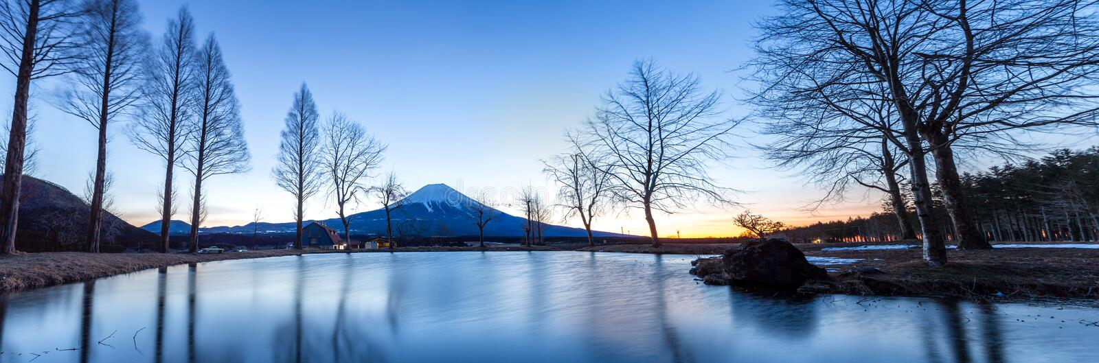 Mount Fuji Fujisan Sunrise royalty free stock photography