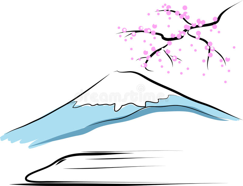 Mount fuji royalty free illustration