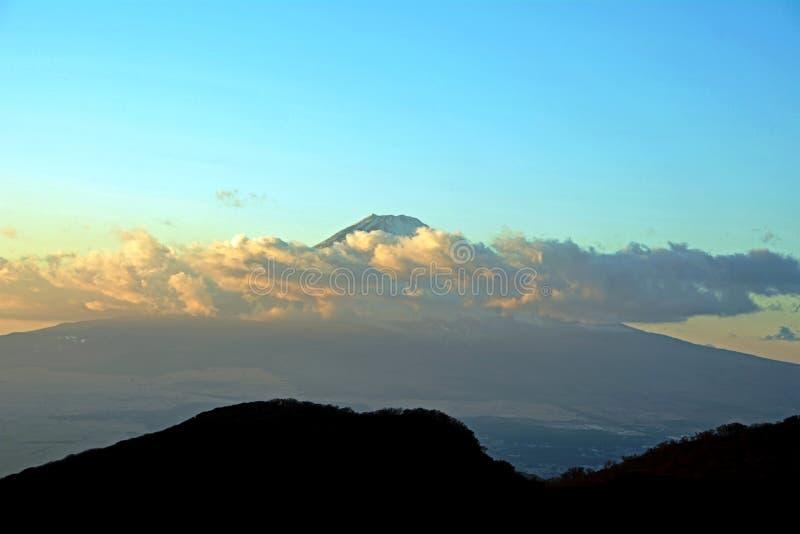 Mount Fuji i eftermiddagen japan royaltyfria bilder