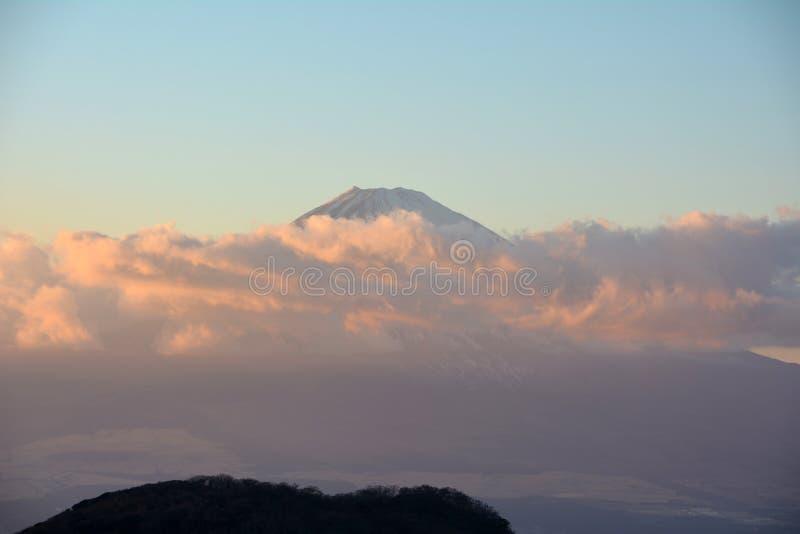 Mount Fuji i eftermiddagen japan arkivfoton