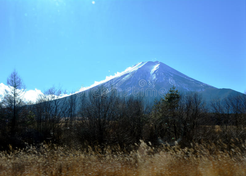 Mount Fuji i morgonen japan royaltyfri bild