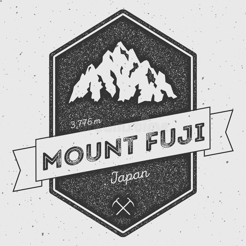 Mount Fuji in , Japan outdoor adventure logo. vector illustration