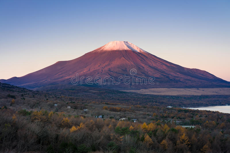 Mount Fuji and lake Yamanaka royalty free stock image