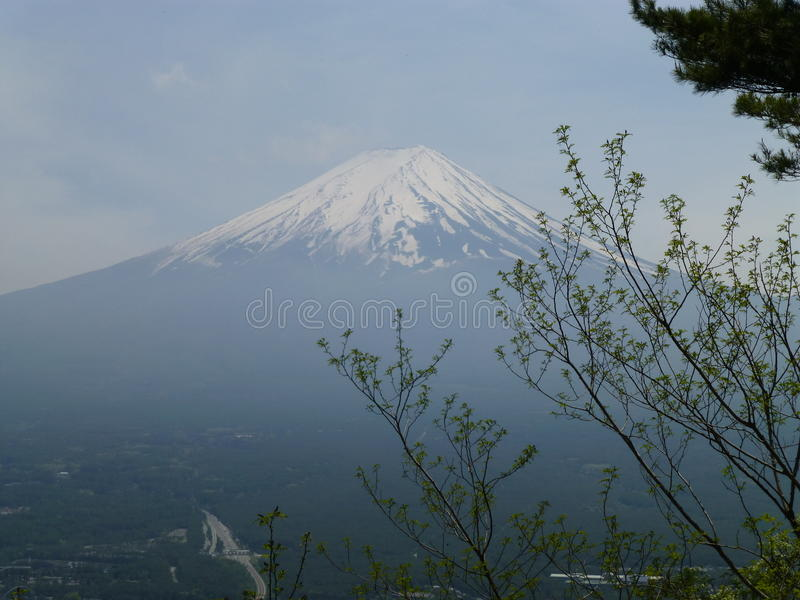 Mount Fuji from Mount Tenjo, Hakone, Japan royalty free stock images