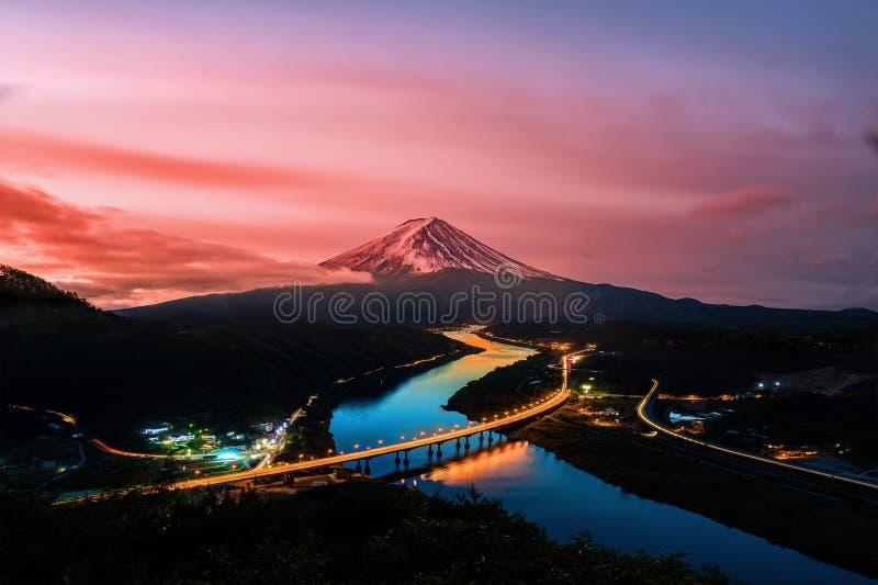 Mount Fuji and  sunrise in Japan.  stock photos