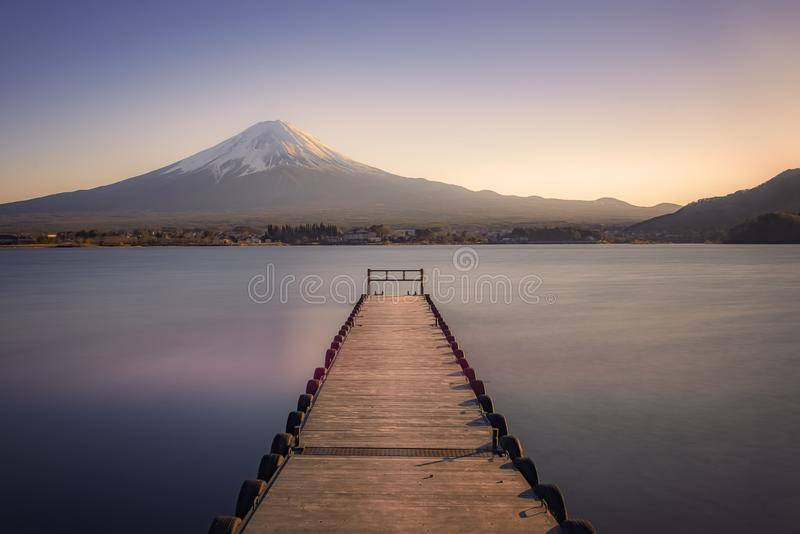 Japanese landscape at sunset stock photos