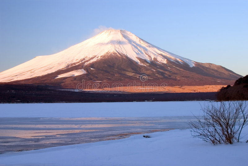 Mount Fuji in Winter II stock images