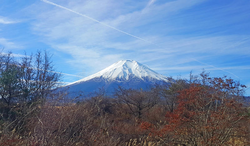 MOUNT FUJI AT WINTER royalty free stock images